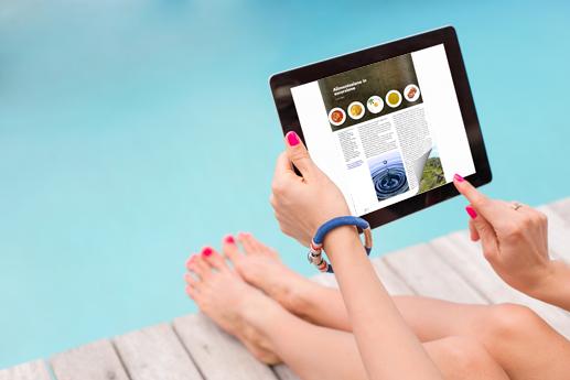 Creare una rivista online sul tablet con un effetto di capovolgimento di pagina