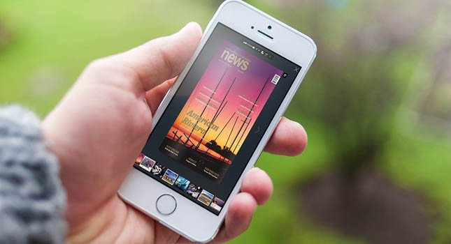 Fare rivista elettronica sul smartphone