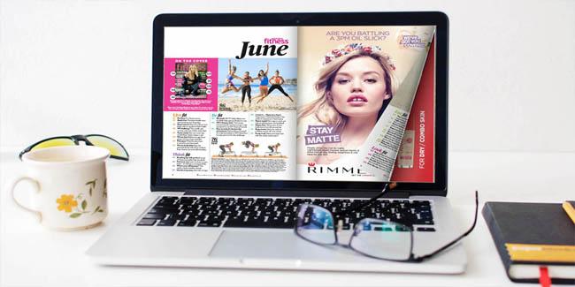 Pubblicare una rivista online sul laptop
