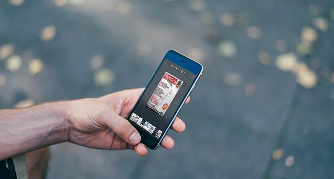 Rivista digitale sul smartphone