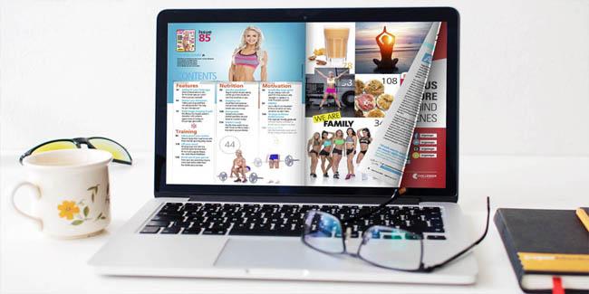 Riviste on line sul laptop
